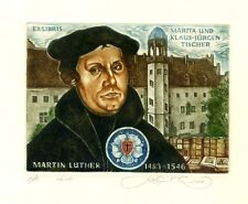 Monk, Priest Martin Luther, Germany, Original Ex libris Etching by S. Kirnitskiy