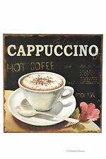 "Vintage Kitchen 11.75"" Coffee Cappuccino Metal Tin Wall Sign Plaque"