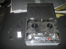 vintage 5 transistor ORAL model 207 portable reel tape recorder w/ remote / MIC