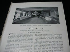 1898 VICTORIAN RAILWAY in A ROOM £10,000 TOY ~ ARTICLE & PHOTOS