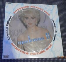 "RARE IMPORT MADONNA II PICTURE DISC INTERVIEW 1989 12""VINYL RECORD LP LIMITED ED"