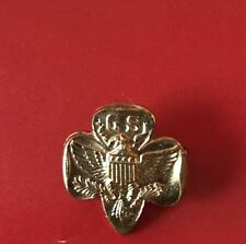 Vintage Gold Girl Scout GS Eagle Membership Badge Brooch Pin Circa 1960