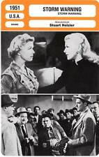 FICHE CINEMA : STORM WARNING - Rogers,Reagan,Day,Heisler 1951