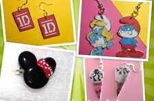 Lotto Orecchini in fimo gelato kit kat smartie puffi one direction anello minnie