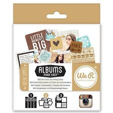 Insta Albums Made Easy INDIAN SUMMER Journaling Cards 100pc We R Memory