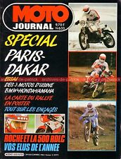 MOTO JOURNAL  633 HONDA XLR BMW R100 GS YAMAHA XT FANTIC 125 PARIS DAKAR 1983