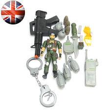 SOLDATINI con mitragliatrice, Plastica MANETTE, granate, Action man Giochi di Guerra