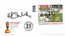 Hand Signed FDC - MICHAEL VAUGHAN - THE ASHES 2005 - Cricket Captain - Ticket
