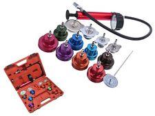 14pc Radiator Pump Pressure Leak Tester Water Tank Detector Kit Aluminum Adapter
