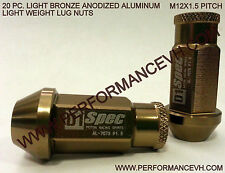 M12 X 1.5 Bronze Aluminum Racing Lug Nut Honda Acura Civic Accord Integra Toyota