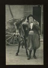 Spain MALLORCA Serie Truyol Man and donkey c1920/30s? RP PPC