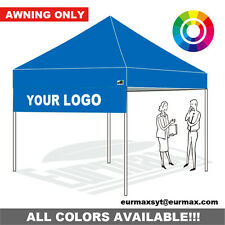 10X10 Custom Graphics Awning For Pop Up Canopy Digital Printing