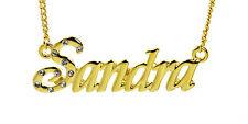 Vergoldet Namenskette SANDRA - Identität Jahrestag Geschenke Anhänger Braut Mode