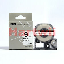 EPSON LC-3WBN Compatible Standard LC Label Tape  Black on white 9mm 8m LW500 700