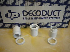Box of 100 x 20mm White Male PVC Plastic Conduit Adapters High Grade Decoduct