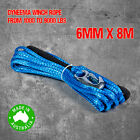 Dyneema SK75 Synthetic Winch Rope, Cable 6mm x 8m, 4WD Boat Recovery Offroad