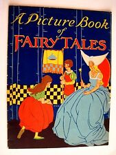 "1930  Book ""A Picture Book of Fairy Tales"" - Illustrations by Charlotte Stone *"