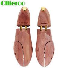 Ollieroo 1 pair Men's Shoe Tree Cedar Wood Adjustable Shoe Shaper Size 12-13