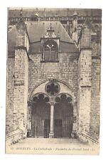 bourges , la cathédrale , ensemble du portail nord
