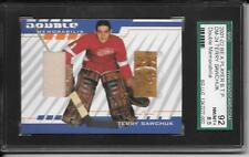 TERRY SAWCHUK 2001-02 BE A PLAYER B.T.P. PAD & JERSEY CARD #DM-24