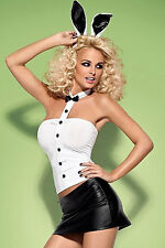 Sexy Cute! BUNNY Costume EARS MINI SKIRT TOP SET - Playboy Outfit - 8709 USA!