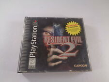 Resident Evil 2 Dual Shock Sony PlayStation 1 1998 Discs Case Tested Black Label