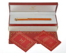 Cartier Must Trois Anneaux orange lacquer FP (very rare) new old stock in box