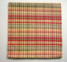 Red, Green & Yellow Country Plaid 100% Cotton Napkins Set of Four (4)