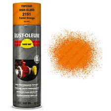 x5 Industriel Rust-Oleum Pastel Orange Peinture Aérosol Solide Chapeau 500ml RAL