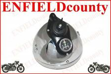 """VINTAGE CHROME PLATED BSA NORTON ARIE RE HEAD LIGHT ASSEMBLY 7"""" LUCAS REPRODUCT"""
