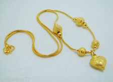 "22K 23K 24K THAI YELLOW GP GOLD 17 "" NECKLACE Jewelry N_52"