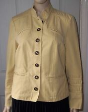 New PRINCIPLES Corn Yellow Cargo Cotton Jacket Size 14  Holiday Chilly Evenings