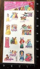 PRINCESS BY DISNEY - ONE SHEET TEMPORARY TATTOOS - BEAUTIFUL DESIGN -  #GUA215