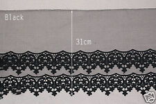 1y Broderie Anglaise Embroidery mesh eyelet lace trim 31cm YH1511a laceking2013