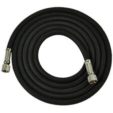 "6' BLACK BRAIDED AIRBRUSH AIR HOSE 1/8"" Fitting Ends Fit Iwata Master Compressor"
