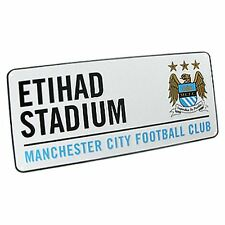 MANCHESTER CITY WHITE ETIHAD FOOTBALL STREET SIGN KIDS THEMED BEDROOM