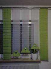 Gardinen/ Gardinen-Set/ Flächenvorhänge/ Schiebevorhänge weiß-grün modern