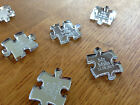 Personalised Silver Mirror Puzzle Piece Wedding Table Decoration Favours Gift