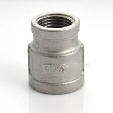 """3/4""""x1/2""""Female Nipple Threaded Reducer Pipe Fitting Stainless Steel 304 NPT NEW"""