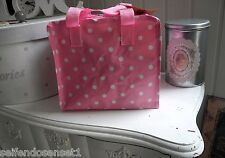 BAG Wash bag pink Polka Dots Dots shabby chic Kindergarden bag