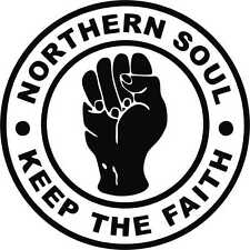 2 X NORTHERN SOUL CAR CAMPER LAPTOP  WINDOW BUMPER SCOOTER GUITAR STICKER DECAL