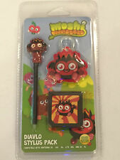 DIAVLO NINTENDO DS NDS DSL DSi 2DS 3DS MOSHI MONSTERS STYLUS PEN + CASE & WIPE