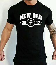 New Dad 2017 T-Shirt Mens Funny Father's Day Gift New Born Daddy T-Shirt