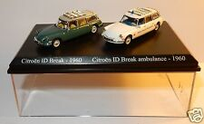 COFFRET ATLAS DUO 2 METAL UH HO 1/87 CITROEN DS ID BREAK AMBULANCE CROIX ROUGE