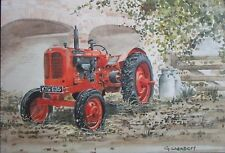 "Tractor greeting card -Red ""Nuffield"""