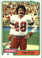 1981 Topps #434 Tim Fox - New England Patriots / Ohio State Buckeyes