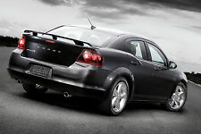 08-14 Dodge Avenger UNPAINTED Base Color Rear Trunk Wing Spoiler OE Style ABS