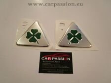 Alfa Romeo GREEN cloverleaf GENUINE EMBLEM GIULETTA 147 159 GT wing badges
