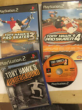 4 PAL PLAYSTATION 2 PS2 TONY HAWK'S GAME BUNDLE PRO SKATER 3 4 & UNDERGROUND 1 2
