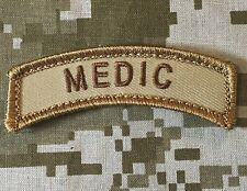 MEDIC TAB TACTICAL USA ARMY US MILITARY DESERT MORALE BADGE HOOK PATCH